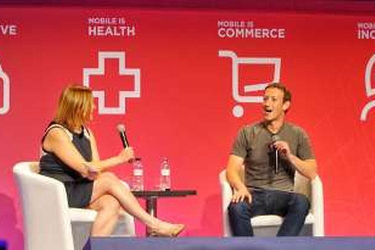 Mark Zuckerberg di Mobie World Congress (MWC) 2016, Barcelona.