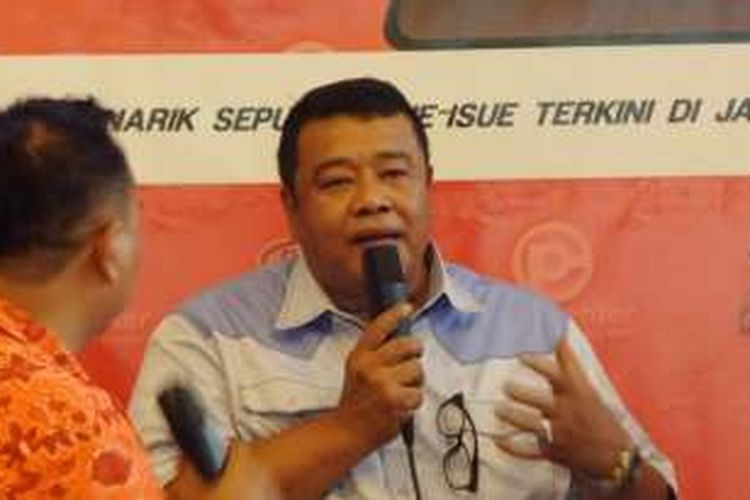 Juru bicara tim pemenangan Basuki Tjahaja Purnama-Djarot Saiful Hidayat dari Partai Nasdem, Bestari Barus, saat menghadiri diskusi di Menteng, Jakarta Pusat, Sabtu (8/10/2016).