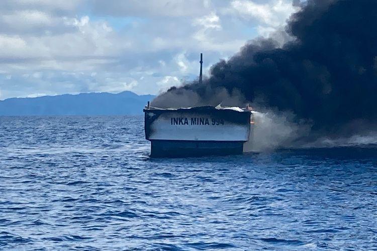 Kapal Inka Mina 994 Terbakar di Perairan Raja Ampat