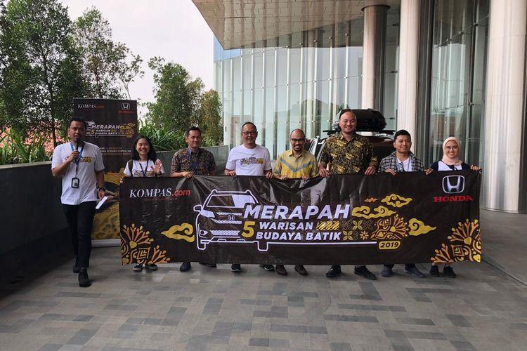 Acara pelepasan tim Merapah 5 Warisan Budaya Batik di Jakarta, Senin (7/10/2019).