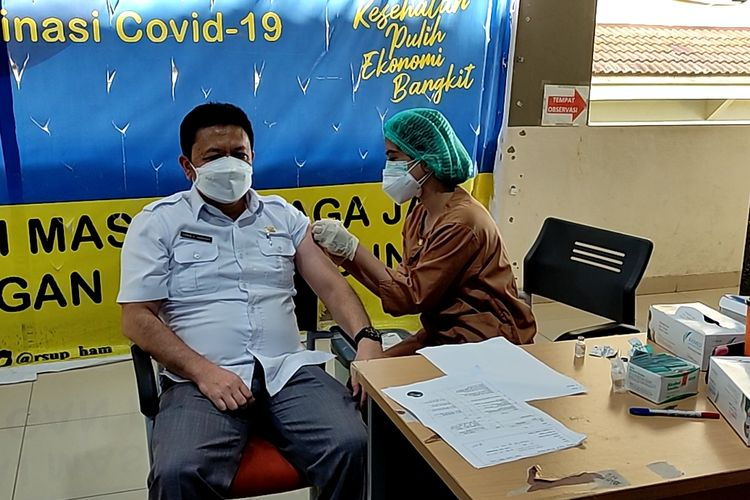 RSUP Adam Malik Medan telah memulai program vaksinasi tanpa syarat domisi di Medan, Sumatera Utara.