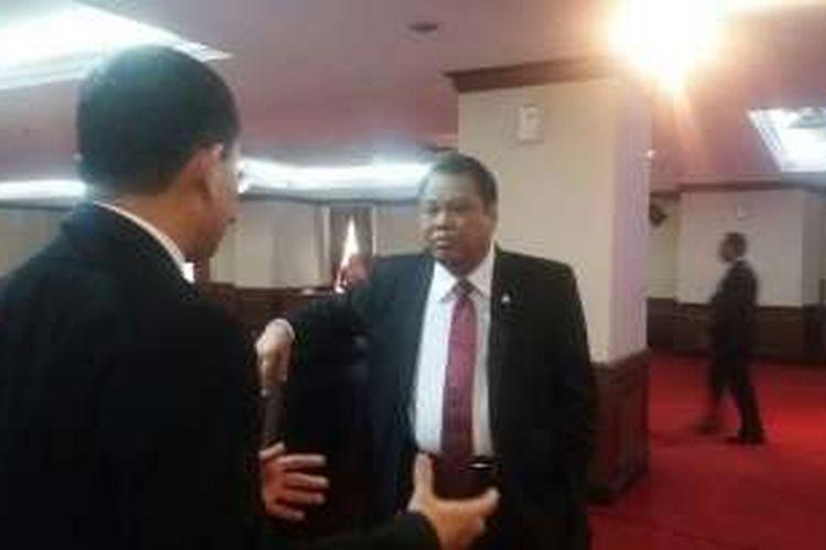 Ketua Mahkamah Konstitusi Arief Hidayat di Gedung MK, Senin (7/3/2016)