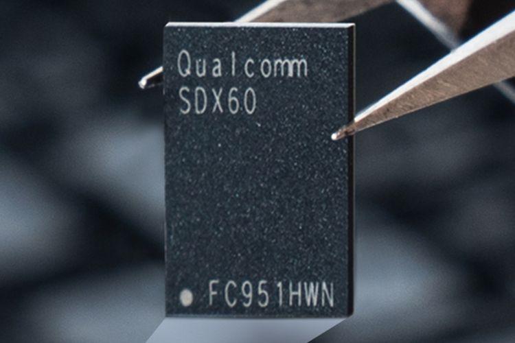 Ilustrasi chip modem Qualcomm Snapdragon X60 5G.