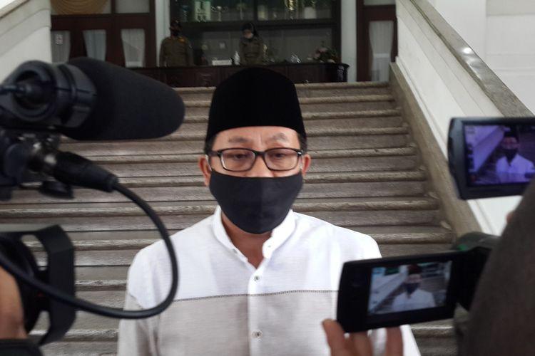Wali Kota Malang, Sutiaji saat diwawancara di Balai Kota Malang, Jumat (24/7/2020).