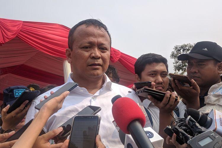 Kunjungan Menteri Kelautan dan Perikanan Edhy Prabowo di Pelabuhan Perikanan Muara Angke, Penjaringan, Jakarta Utara, Senin (28/10/2019)
