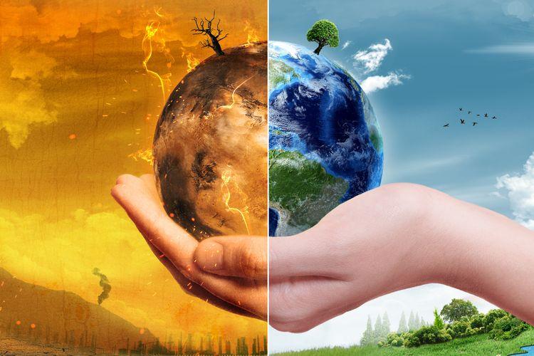 Ilustrasi pemulihan hijau untuk hadapi perubahan iklim dunia, diserukan para ahli dalam laporan UNEP 2020.