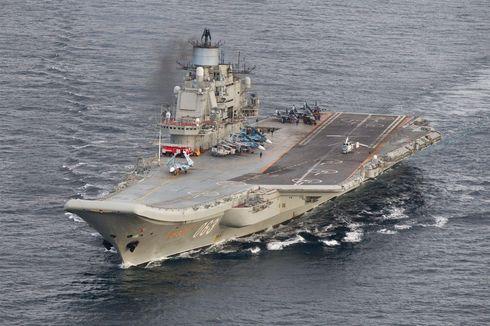 Satu-satunya Kapal Induk Milik Rusia Terbakar
