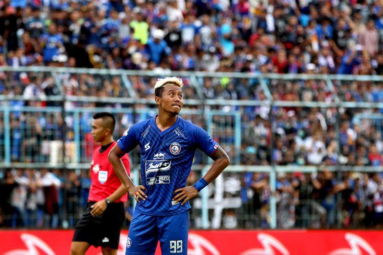 Pemain Arema FC asli Malang, Kushedya Hari Yudo.