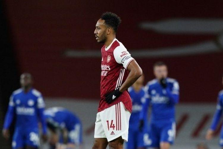Penyerang Arsenal, Pierre-Emerick Aubameyang.