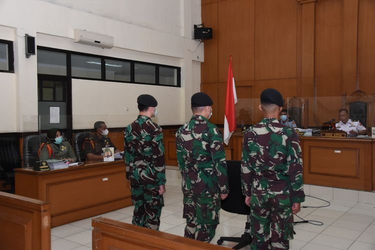 Pengadilan Militer II-08 Jakarta menggelar sidang putusan terhadap pelaku perusakan Polsek Ciracas.