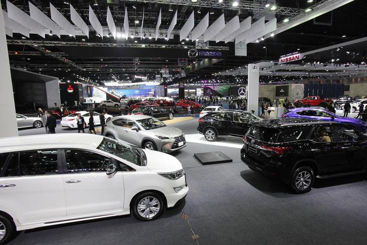 Ilustrasi pameran otomotif, Bangkok International Motor Show.