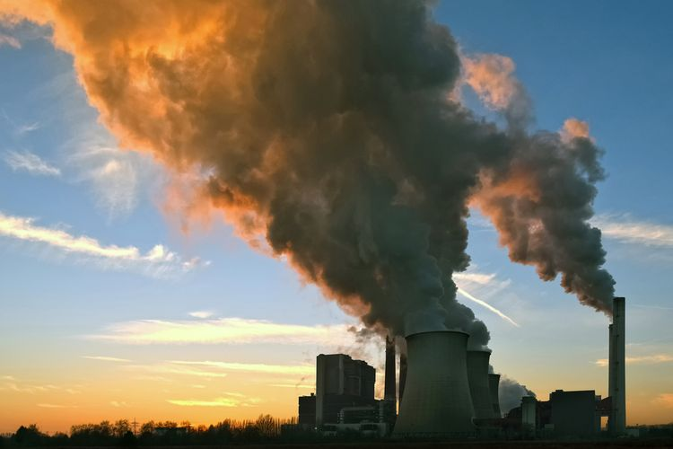 Ilustrasi perubahan iklim dari emisi karbon dapat menjadi pandemi baru bagi penduduk dunia.