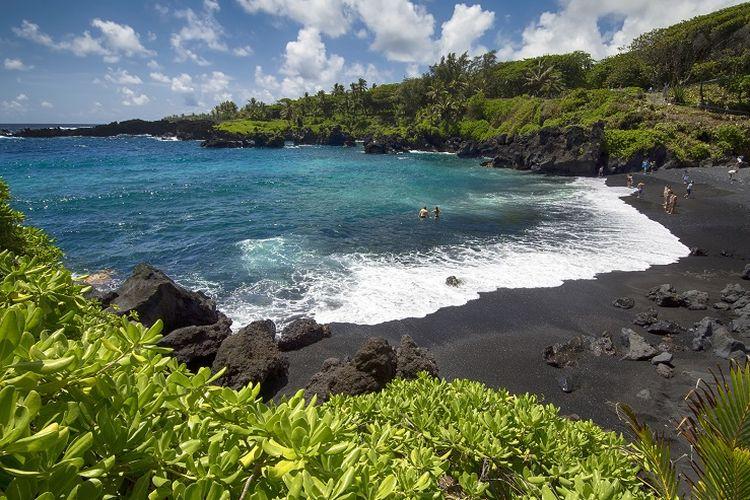 Ilustrasi Hawaii - Pulau Maui.