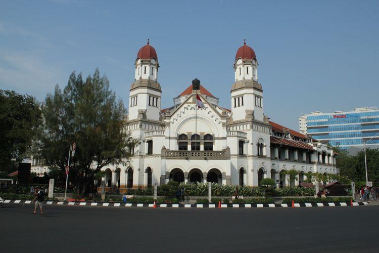 Suasana gedung bekas kantor pusat NISM, Lawang Sewu, di Semarang pada Juli 2019 lalu.
