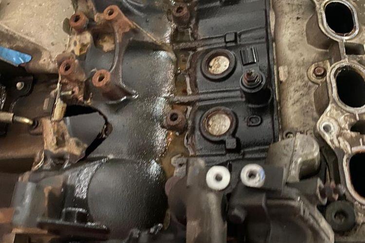 kondisi blok mesin pecah karena water hammer dok carfix