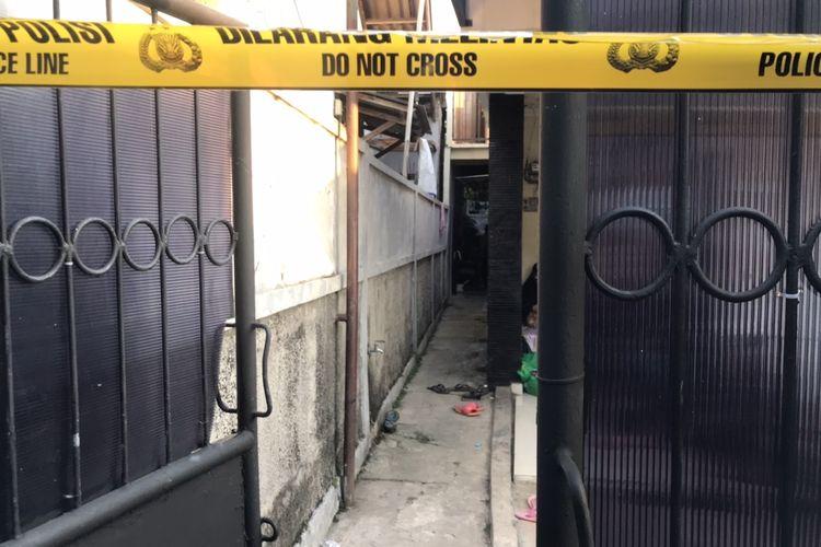 Lokasi pembunuhan di Jalan Kelapa Puan RT 10 RW 03, Jagakarsa, Jakarta Selatan para Selasa (27/7/2021) siang.