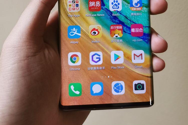 Beberapa aplikasi Google terpasang di ponsel Huawei Mate 30 Pro.