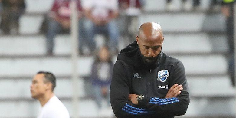 Thierry Henry saat mendampingi CF Montreal tampil di Liga Champions CONCACAF kontra Deportivo Saprissa, 19 Februari 2020.