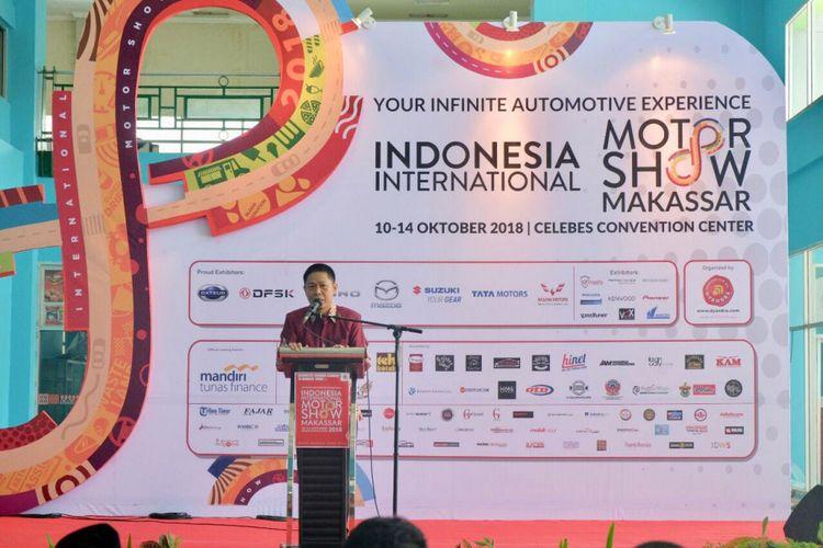 Hendra Noor Saleh dalam sambutan IIMS Makassar 2018