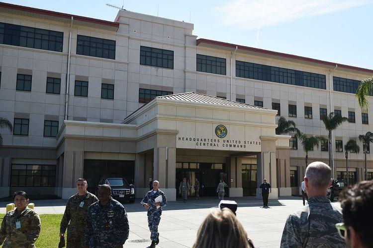 Markas Komando Pusat AS di Pangkalan Udara MacDill di Tampa, Florida.