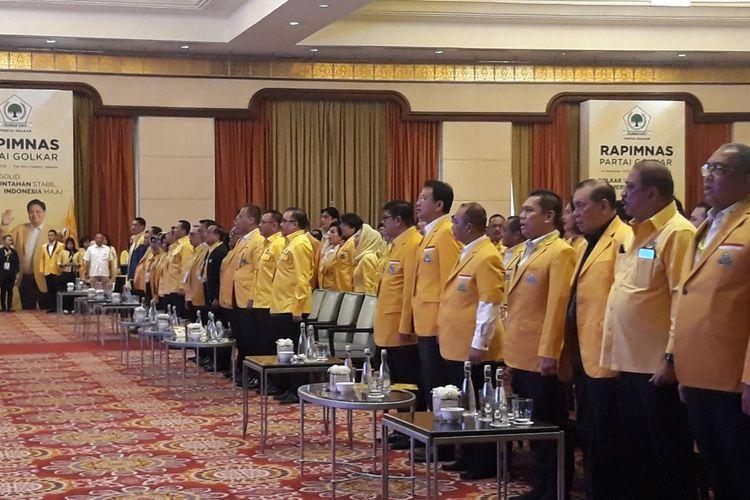 Pembukaan Rapimnas Golkar di Ritz Carlton, Kuningan, Jakarta Selatan, Kamis (14/11/2019).