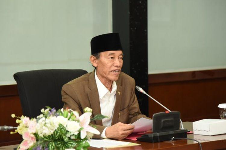 Anggota Komisi VIII DPR RI Hamka Haq saat memimpin pertemuan Tim Kunjungan Kerja Reses Komisi VIII DPR RI dengan Pemerintah Provinsi Kalimantan Timur, di Kantor Gubernur Kaltim, Samarinda, Jumat (26/7/2019).