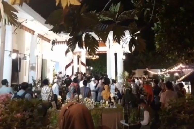 Potongan gambar video viral Ultah Gubernur Jatim Khofifah Indar Parawansa disebut undang kerumunan