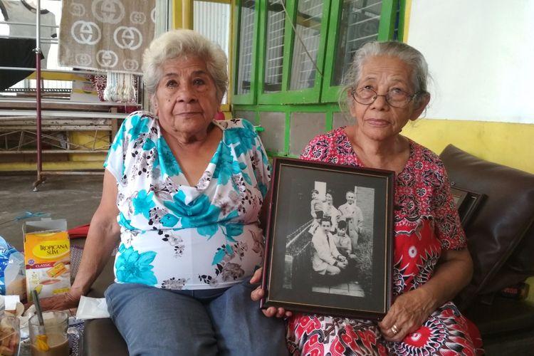 Yvone (kiri) dan adiknya saat ditemui di Losmanan, Kota Magelang.