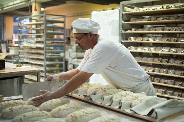 Pembuat roti di Jerman.
