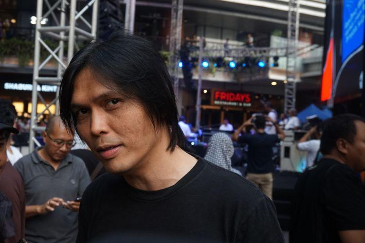 Penyanyi solo Once Mekel ditemui usai tampil di konser amal Gala Dana 100 Biduan 100 Hits Untuk Palu-Donggala, Sulteng di Lippo Mall Kemang, Jakarta Selatan, Jumat (5/10/2018).
