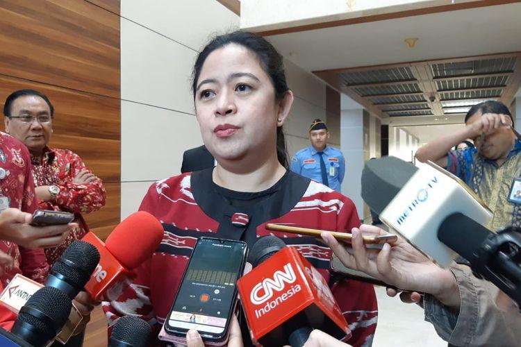 Ketua DPP Bidang Politik dan Keamanan PDI-P nonaktif, Puan Maharani di Kompleks Parlemen, Senayan, Jakarta, Selasa (25/6/2019)
