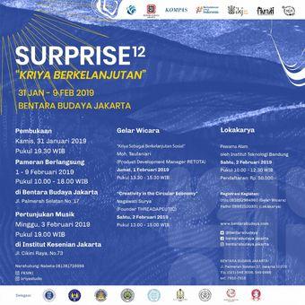 Pameran Surprise12: Kriya Berkelanjutan di Bentara Budaya Jakarta.