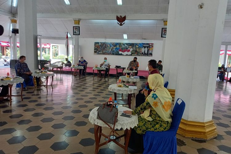Forkompinda Kabupaten Lebak menggelar rapat membahas PPKM Darurat, Jumat (3/7/2021)