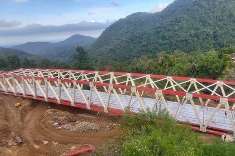 Potret Jembatan Baru Palopo-Toraja, Sulawesi Selatan