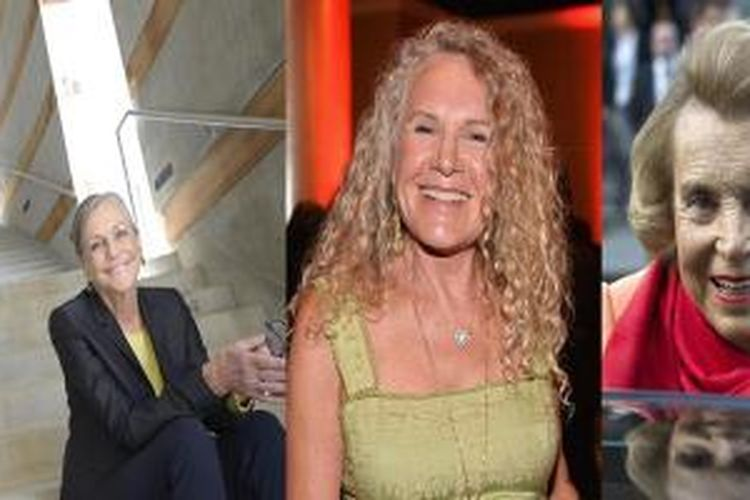 Alice Walton, Christy Walton, dan Liliane Bettencourt.