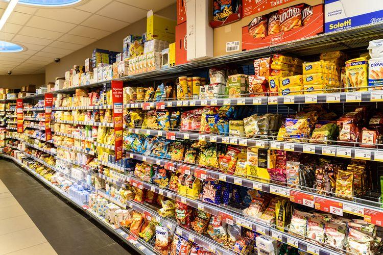 Ilustrasi produk makanan kemasan.