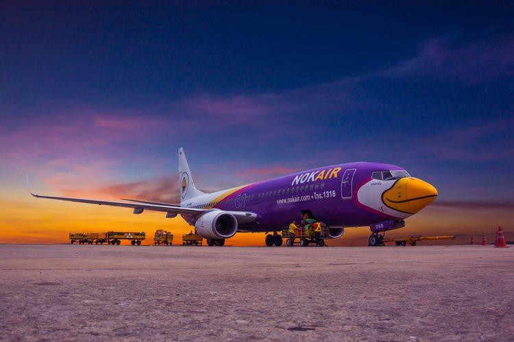 Ilustrasi Nok Air, maskapai penerbangan Thailand.