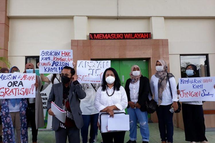 Korban Arisan di PN Bantul Kamis (10/6/2021)