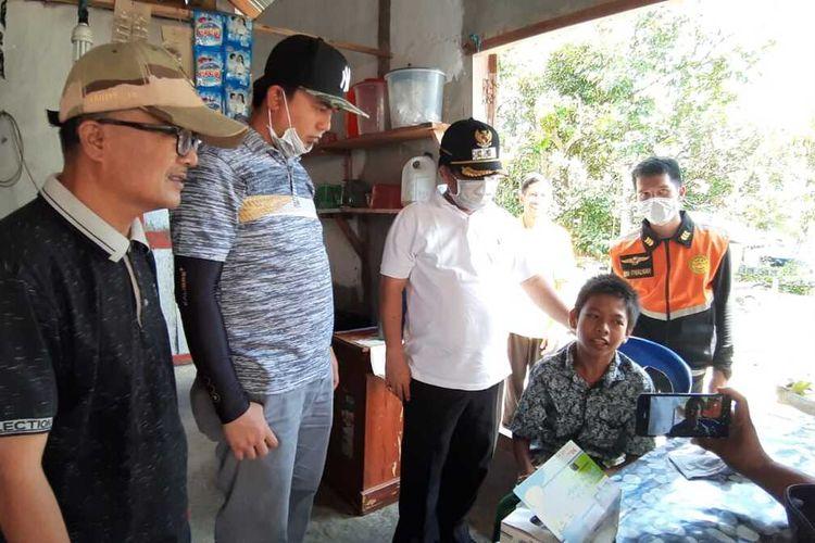 Wakil Bupati Limapuluh Kota Ferizal Ridwan melakukan sosialisasi kepada masyarakat tentang bahaya Covid-19