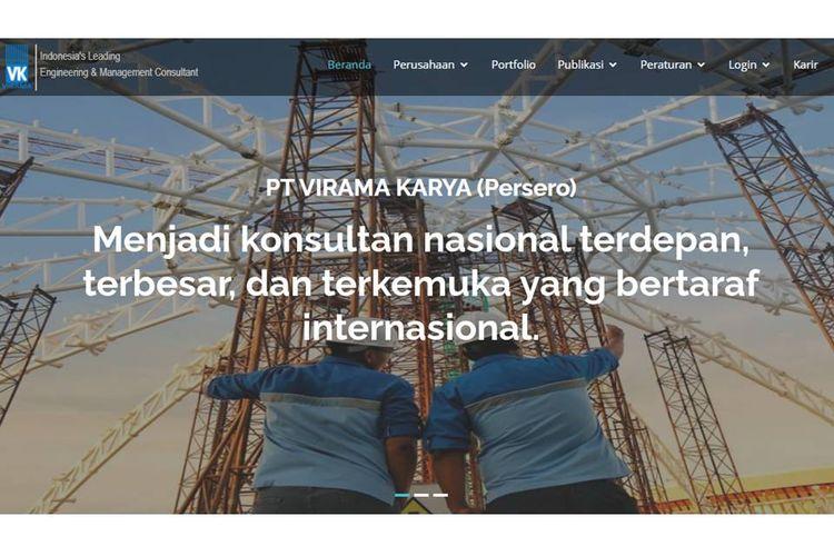 Tangkapan layar laman resmi PT Virama Karya.