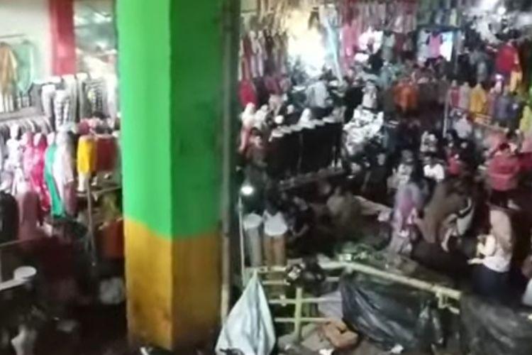 Kondisi Blok A Tanah Abang jelang Ramadhan, Minggu (5/5/2019) siang.