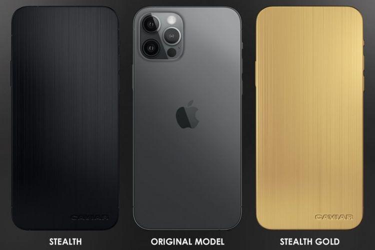 Perbandingan tampak belakang iPhone 12 Pro original dan iPhone 12 Pro edisi khusus tanpa kamera