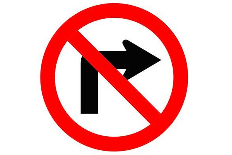Coba jelaskan arti rambu lalu lintas ini.