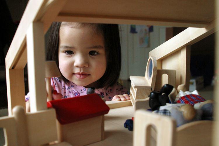 Ilustrasi rumah boneka
