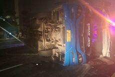 Tujuh Korban Luka Bus Terguling Dirujuk ke RS Polri Kramat Jati