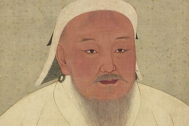 Ilustrasi Genghis Khan, pendiri Kerajaan Mongol. [Via Wikimedia Commons]