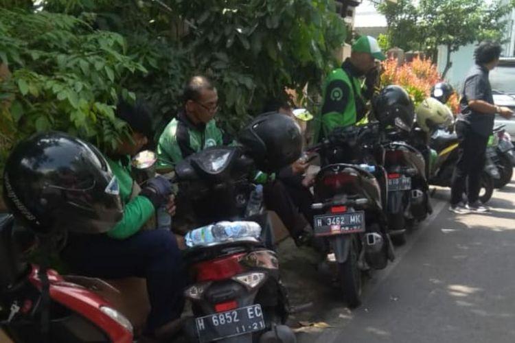 Puluhan driver Gojek di Salatiga terkena order fiktif, Senin (24/2/2020).