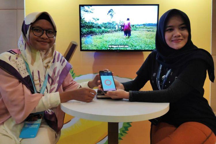 Kiri-kanan: Hastu Wijayasri dan Tesya Nurintan, pengembang aplikasi Sukacare