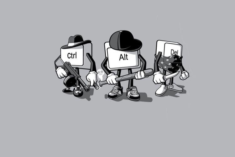 Ilustrasi tombol Ctrl+Alt+Del