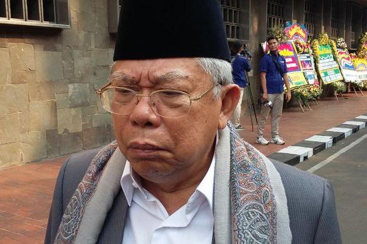 Ketua MUI Maruf Amin, saat ditemui di Masjid Istiqlal, Jakarta Pusat, Kamis (22/10/2015).